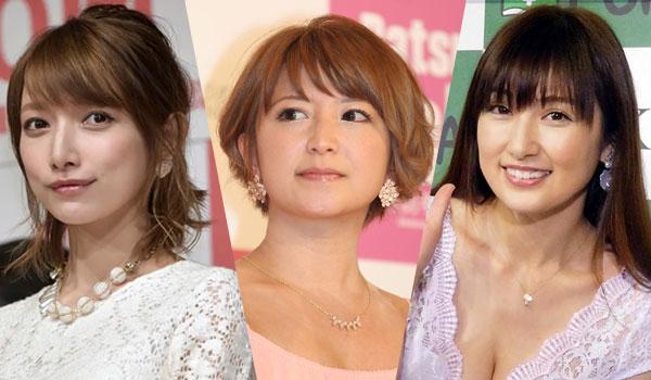 後藤真希さん、矢口真里さん、熊田曜子さん